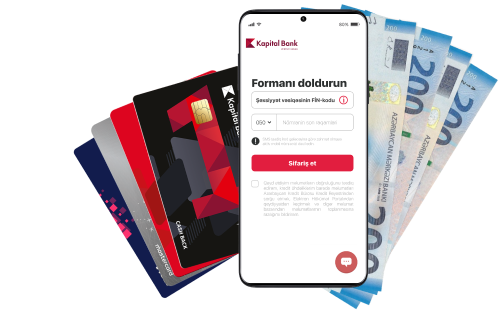 """<p class=""""font-s"""">Get BirKart <br> and cash loan with <br> <span class=""""text-red font-s-bold""""> FIN-code in online applications.</span></p>"""