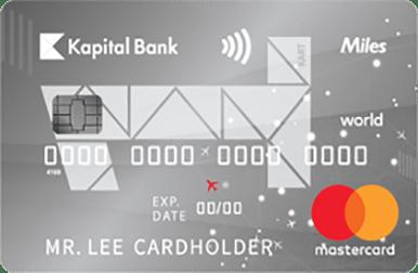 Kartla edilən nağdsız ödənişlərə 1 AZN-ə 1 mil bonus qazandıran, pulsuz səyahət, faizsiz və komissiyasız taksit imkanı verən unikal bir kartdır.