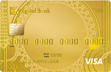 You can manage your AZN, EUR and USD cards with only one card with Multivalued Visa Trio Gold card