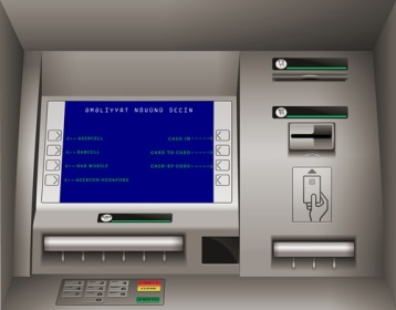 """Bankomatda """" Cash In"""" bölməsi seçilir"""