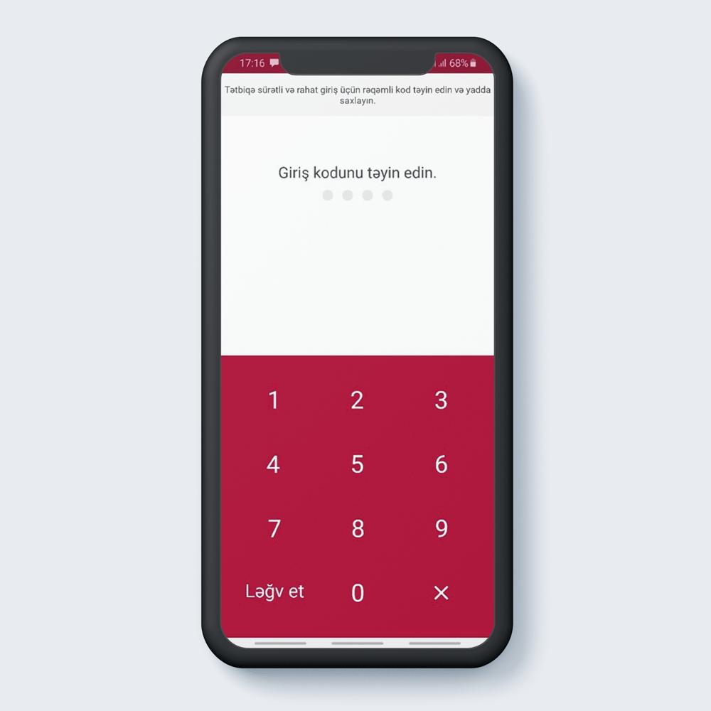 Giriş kodunu təyin edin.