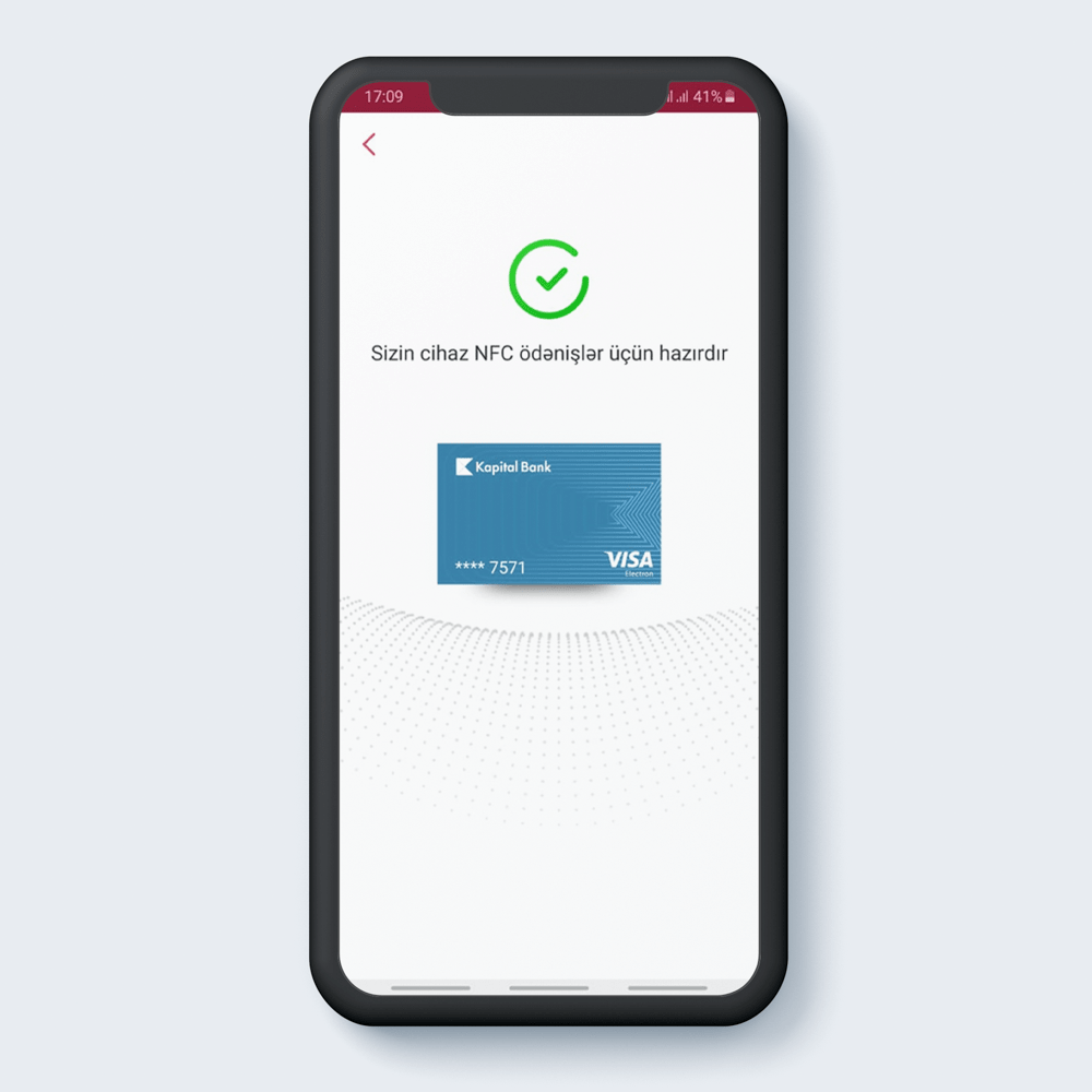 Kartınız NFC ödənişlər üçün hazırdır.