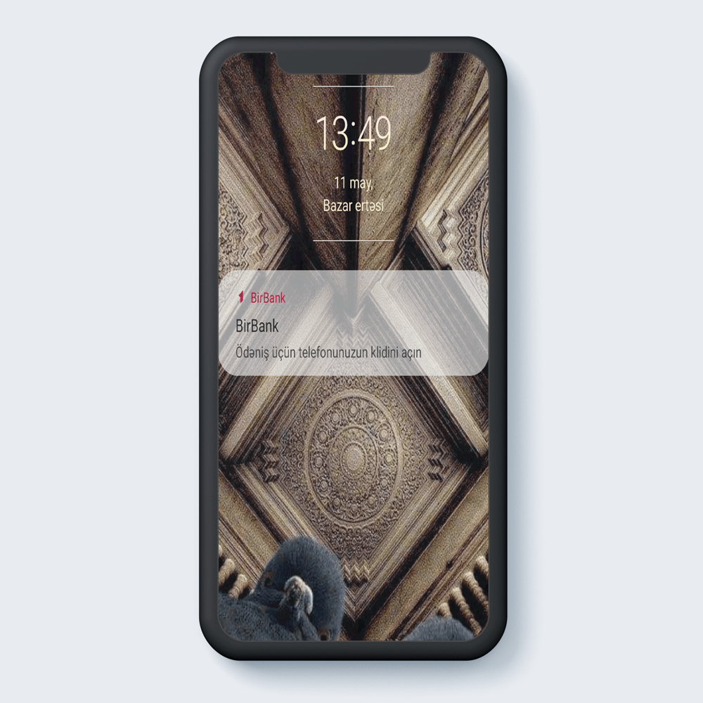 Unlock your phone for payment.