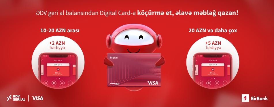 BirBank users who refund VAT can earn extra money from Visa!