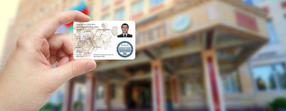 Сотрудникам Бакинского государственного университета также были вручены Образовательные смарт-карты