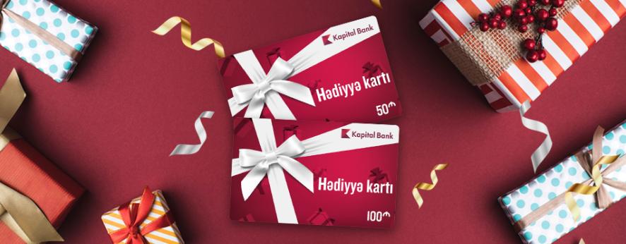 Kapital Bank hədiyyə kartlarını təqdim edir