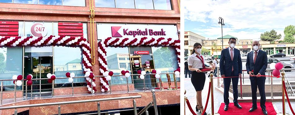 Kapital Bank yeni İnşaatçılar filialını istifadəyə verdi