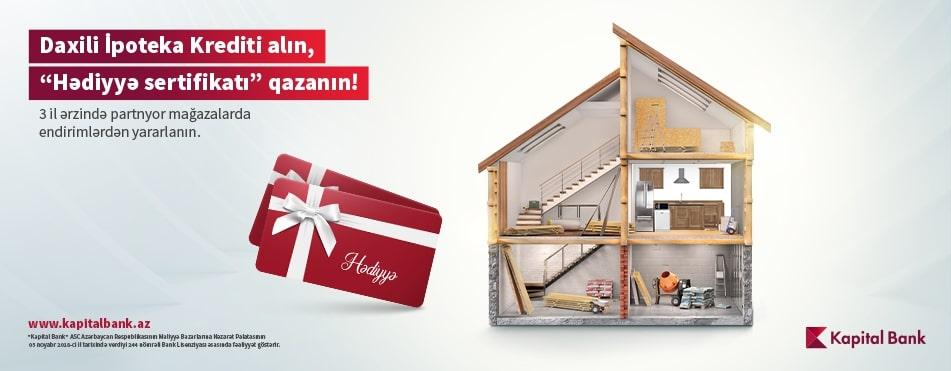 Kapital Bank presents Gift Certificates to homebuyers