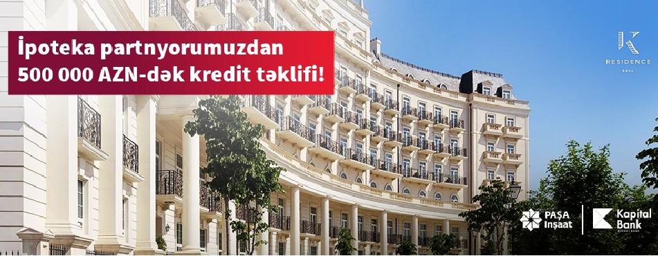 Kapital Bank illik 8%-dən başlayan sərfəli ipoteka krediti təklif edir