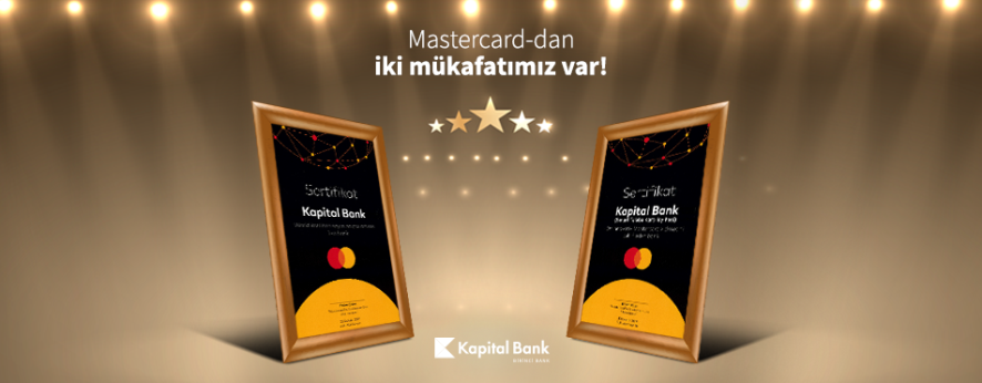 Kapital Bank Masterсard tərəfindən mükafatlandırılıb