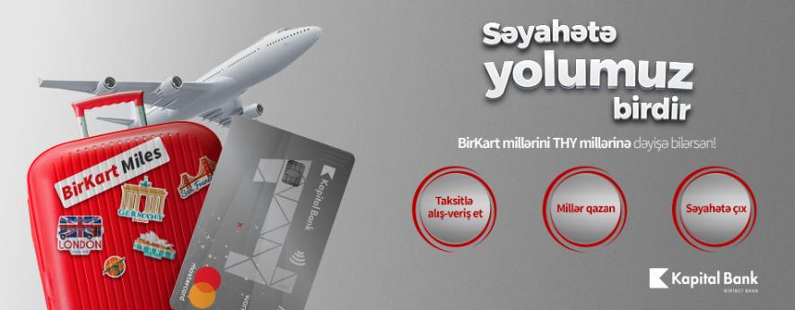 BirKart millərini Türk Hava Yollarının millərinə dəyişmək mümkün oldu