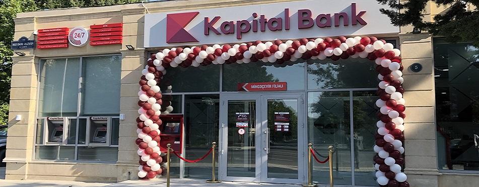 Kapital Bank yenilənən Mingəçevir filialını istifadəyə verdi