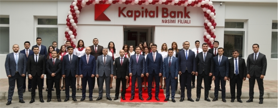 Kapital Bank yenilənən Nəsimi filialını istifadəyə verdi