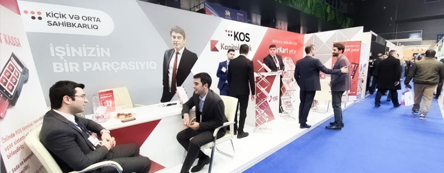 The exhibition of local products and services is held with the support of Kapital Bank