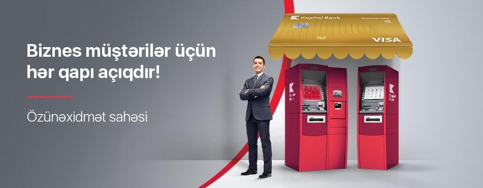Kapital Bank biznes və sahibkarlar üçün 24/7 fəaliyyət göstərən özünəxidmət sahəsi yaradıb