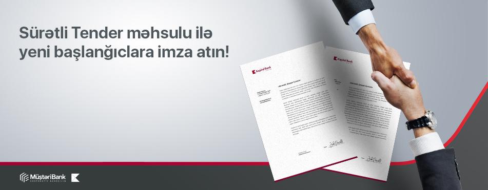 """Kapital Bank sahibkarlara """"Sürətli tender"""" məhsulunu təklif edir"""