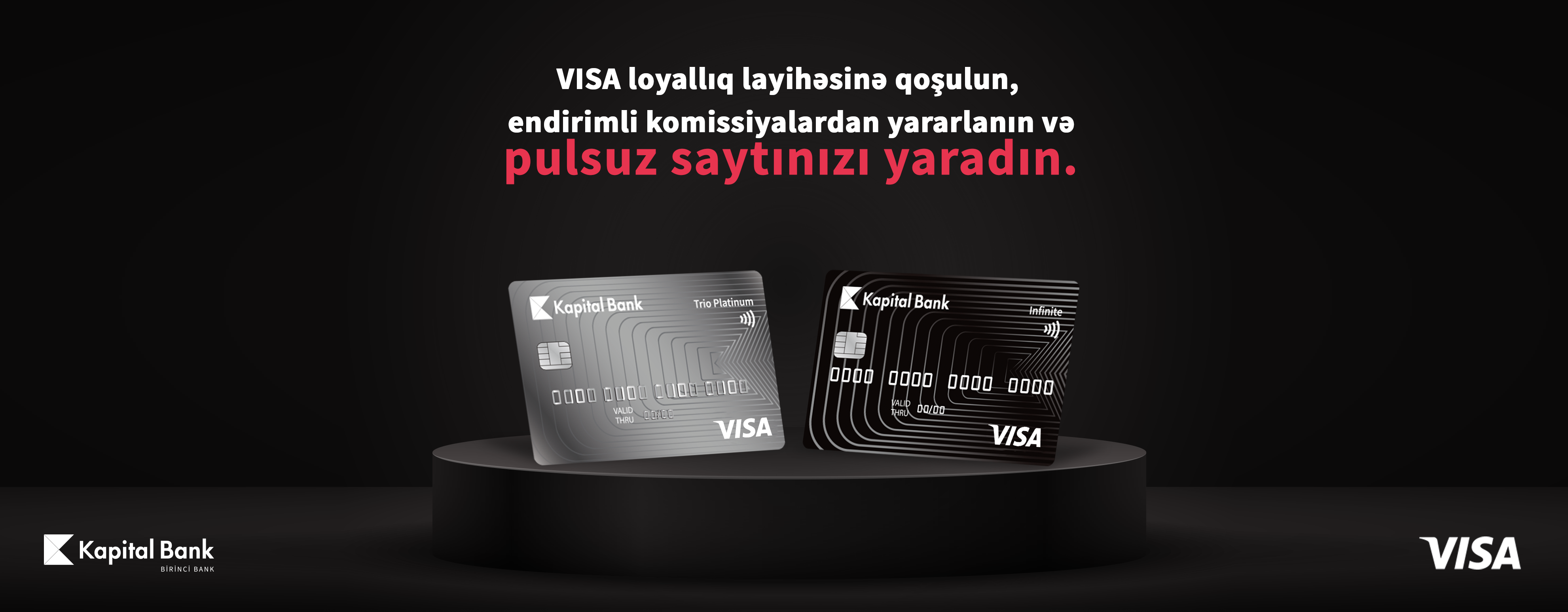 Kapital Bank offers special opportunities to partners providing discounts for Visa cardholders