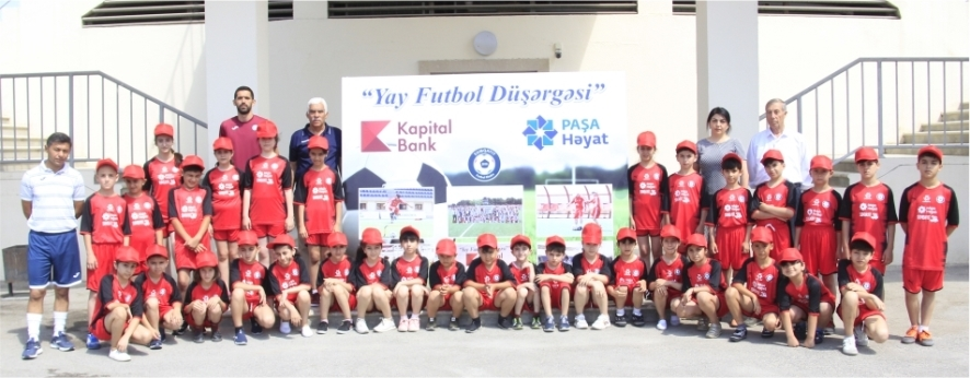 A regular Summer Football Camp was held with the support of Kapital Bank